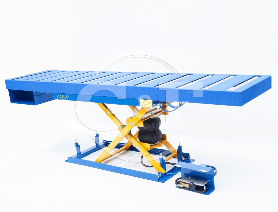 Mesa elevatória pneumática Setor montagem