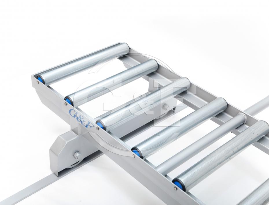 Transportador de rolos transversal