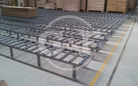 Transportadores de rolos material em stock