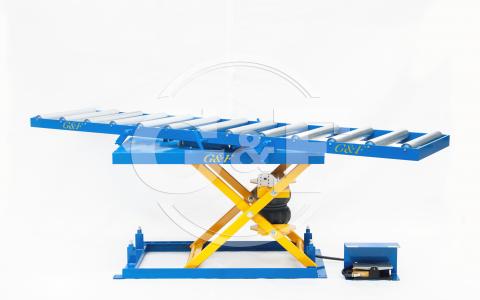 Mesa elevatória pneumática rotativa Setor pintura