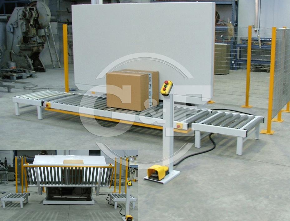Sistema elevatório na horizontal para facilitar o fecho